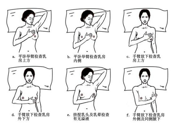 Breast self-examination method